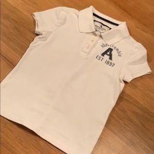 Abercrombie kids white polo size medium
